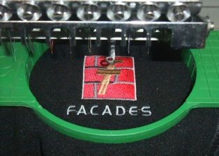 embroidering logo