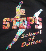 steps dance printed logo