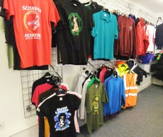 dimensions t shirts printed display